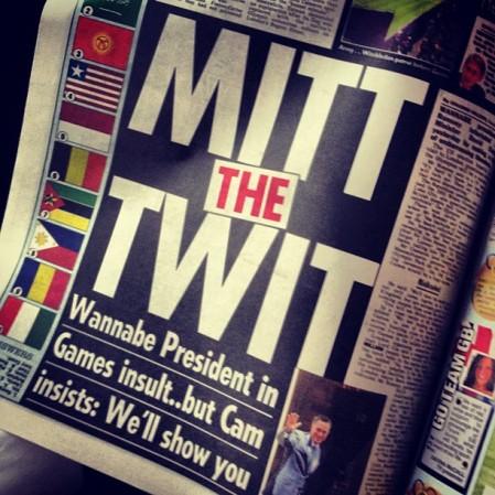Oh well, Mitt's not running for Prime Minister